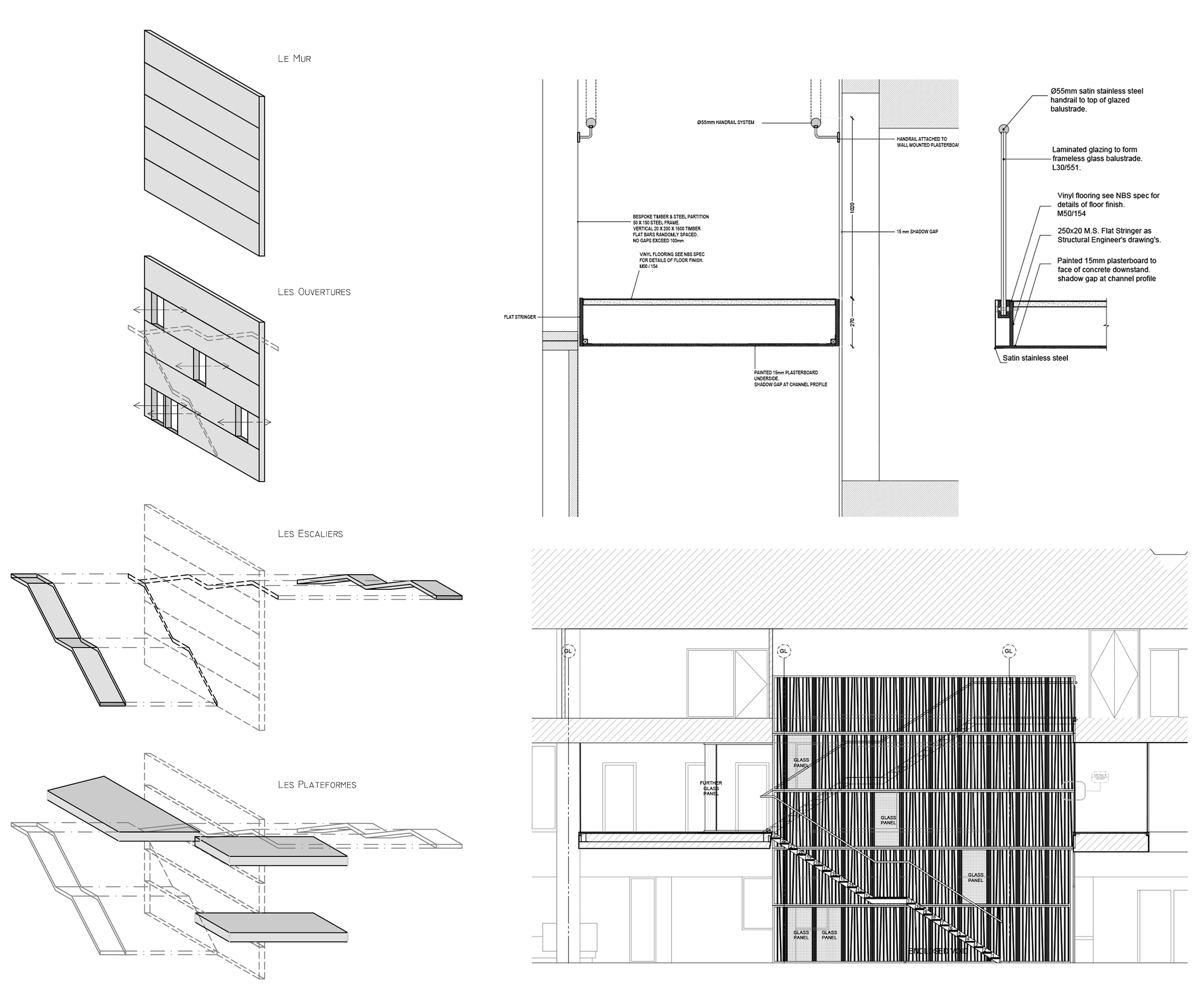 TIME | ARCHITECTURE & DESIGN STUDIO Dessin d'exécution